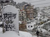 snowfall at Kufri around 17 lms from the northern hill town of Shimla