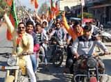बाजपुर में भाजपा ने जनचेतना बाइक रैली निकाली
