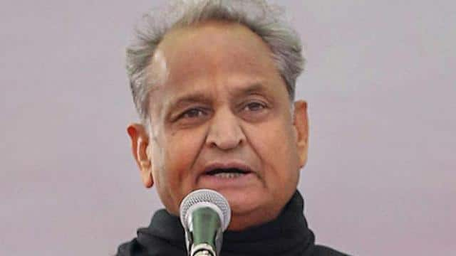 Rajasthan new Chief Minister Ashok Gehlot during the swearing-in ceremony