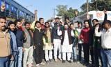 राफेल मुद्दे पर भाजयुमो का कांग्रेस के खिलाफ प्रदर्शन