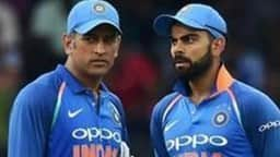MS Dhoni and Virat Kohli.(AFP/Getty Images)