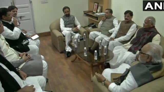 Leaders of Mahagathbandhan in Bihar