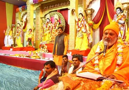 आरती पूजन के साथ नौ दिवसीय श्रीरामचरित मानस महायज्ञ शुरू
