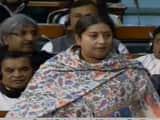 Union Minister Smriti Irani during Triple Talaq bill deate in Lok Sabha