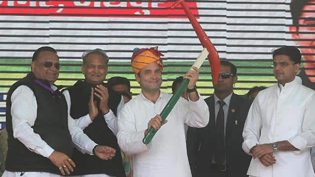 At Rajasthan rally Rahul Gandhi sixer analogy to attack PM Modi