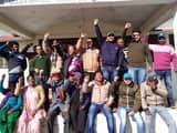 जल निगम कर्मियों ने किया प्रदर्शन सरकार के खिलाफ प्रदर्शन