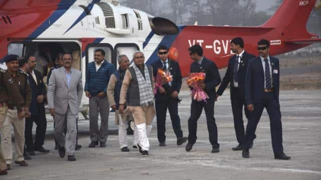 Chief Minister nitish kumar satisfaied of work progress after conducts air survey of Indo Nepal bord