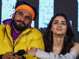 Ranveer Singh and Alia Bhatt at the trailer launch of their upcoming musical film Gully Boy