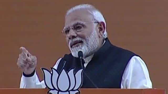 Prime Minister addresses BJP National convention (ANI Pic)