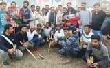 किक्रेट टूर्नामेंट के फाइनल में लालपुर ने नौंगवा को हराया