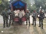 सीमा पर एसएसबी ने छह लाख से ज्यादा की मटर पकड़ी