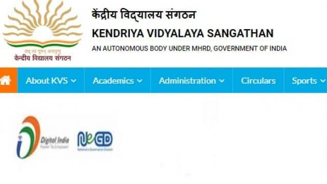 KVS PGT, TGT, PRT result 2018