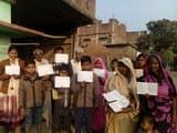 राशन नहीं मिलने गुस्साए ग्रामीणों ने किया प्रदर्शन