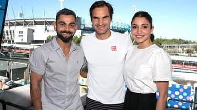Virat Kohli and Anushka Sharma enjoy a day off at Australian Open