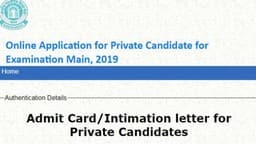 cbse board exams admit card 2019