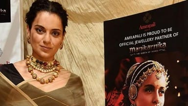 Kangana Ranaut during promotional event for the film Manikarnika