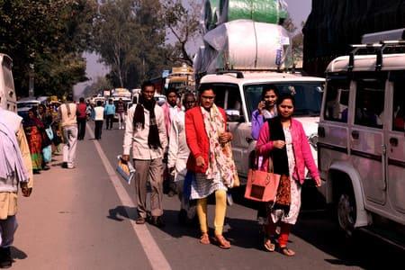 नालंदा में बिहार बंद का मिलाजुला असर, एनएच जाम