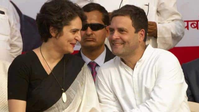 rahul gandhi and priyanka gandhi photo-ht