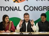 Congress president Rahul Gandhi speaks during a press conference at AICC office at Akbar Road
