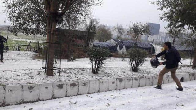 hailstorm in delhi-NCR (HTPhoto)