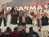 Andhra Pradesh and Telugu Desam Party chief CM N Chandrababu Naidu & other leaders at 'Dharma Porata