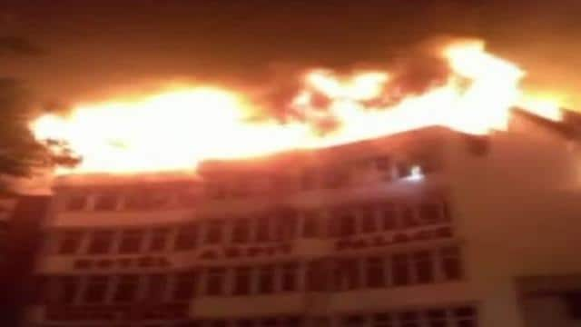 fire in Hotel Arpit Palace