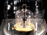 The International Prototype of the Kilogram (IPK) is pictured in Paris, France, in this undated phot