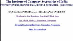 cmai, icai exam, cs foundation result dec 2018, cs foundation result, icsi result, cs result 2019, c