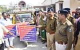 पुलिस सप्ताह में निकला जागरूकता वाहन