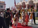 सलेमपुर स्थित बालाजी मंदिर पहुंचे राष्ट्रपति रामनाथ कोविंद।