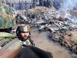 जम्मू-कश्मीर के बडगाम में वायुसेना का जेट हुआ क्रैश (ANI)