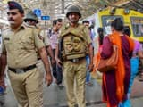 Mumbai: Security personnel at Chhatrapati Shivaji Terminus railway station.