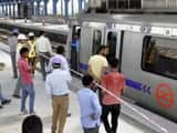 red alert was sounded for Delhi Metro on Wednesday(HT Photo)