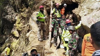 collapsed mine in Bolaang Mongondow in Indonesia