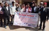 आतंकवाद-पाकिस्तान के विरोध मे कार्यकर्ताओं का प्रदर्शन