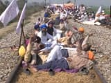 Farmer's protest in Punjab (ANI Twitter Pic)