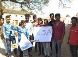 आरएसए नेताओं व छात्रों ने जेपीयू के कुलपति का फूंका पुतला