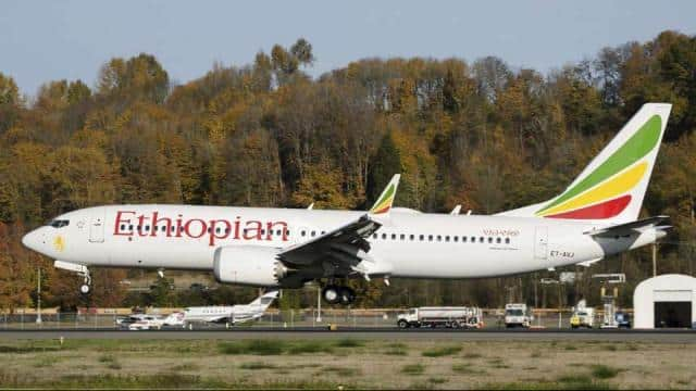 The Boeing 737 Max 8 aircraft of Ethiopian Airliens which crashed Sunday shortly after take-off from