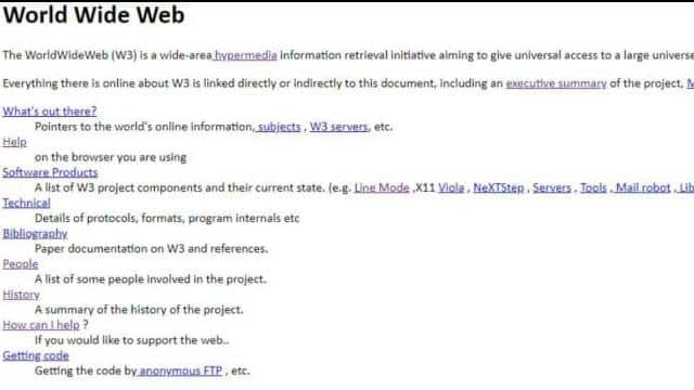 The world's first website available at info.cern.ch.(CERN)
