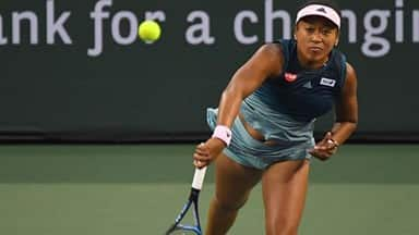 Naomi Osaka defeated Danielle Collins in her third round match in the BNP Paribas Open