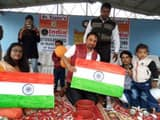 record of making most national flag in just 5 minutes