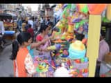 colors of holi at bhagalpur market  some people looked to buy masks and others cloths