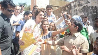 priyanka gandhi in varanasi first time