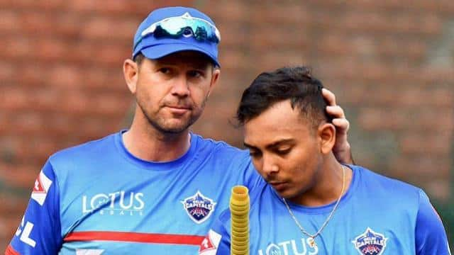 delhi capitals head coach ricky ponting with prithvi shaw jpg