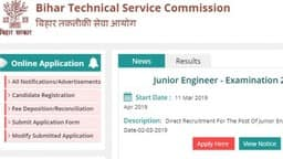 btsc bihar recruitment 2019 - apply online for 6379 jr engineer posts sarkari results