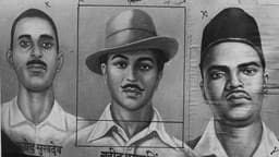 that was bhagat singh  23 at the time of his death   centre   who  along with his comrades  sukhdev