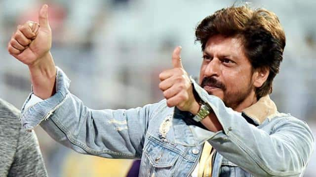 kkr co-owner and bollywood actor shahrukh khan greets the crowd during the ipl