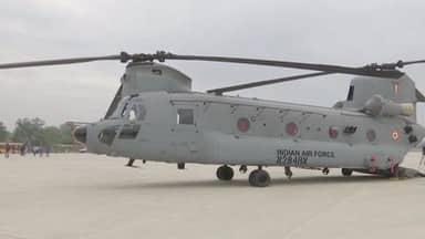 चिनूक हेलीकॉप्टर इंडियन एयरफोर्स में शामिल, रात में भी उड़ान भरने में सक्षम