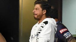 co-owner and bollywood actor shah rukh khan cheers for his team during the ipl cricket t20 match