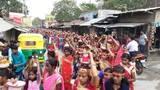 मदनपुर में महिलाओं ने निकाली कलश यात्रा